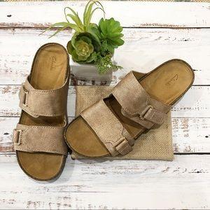 Clarks • Artisan Rose Gold Metallic Sandal